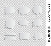 white blank retro speech... | Shutterstock .eps vector #1230947911