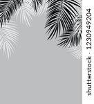 palm leaf vector background... | Shutterstock .eps vector #1230949204