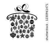 christmas gift  sketch drawing...   Shutterstock .eps vector #1230961471