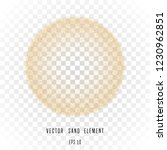 vector sand circle isolated on...   Shutterstock .eps vector #1230962851