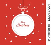 christmas greeting card... | Shutterstock . vector #1230967207