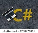 c sharp programming language.... | Shutterstock . vector #1230971011
