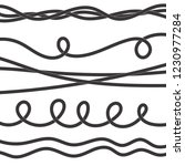 set of twisted vector rope icon ... | Shutterstock .eps vector #1230977284