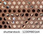 detail of perforated and rusty... | Shutterstock . vector #1230980164