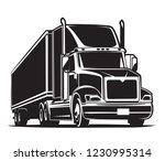semi trailer truck icon. black... | Shutterstock .eps vector #1230995314