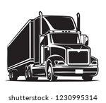 semi trailer truck icon. black... | Shutterstock .eps vector #1230995314
