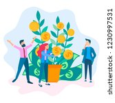 coin shoots money tree  the... | Shutterstock .eps vector #1230997531