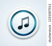 musical notation button... | Shutterstock .eps vector #1231007011