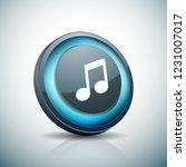 musical notation button... | Shutterstock .eps vector #1231007017