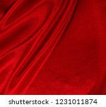 Smooth Elegant Red Silk Or...
