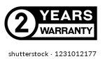 2 year warranty stamp on white... | Shutterstock .eps vector #1231012177