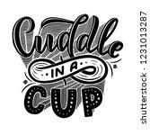 hot cocoa hand lettering... | Shutterstock .eps vector #1231013287
