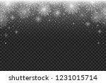 falling snowflakes on...   Shutterstock .eps vector #1231015714