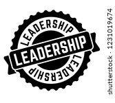 leadership stamp on white... | Shutterstock .eps vector #1231019674