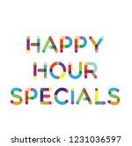 happy hour specials label on... | Shutterstock . vector #1231036597