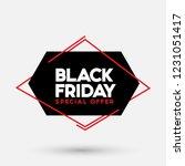 black friday sale vector... | Shutterstock .eps vector #1231051417