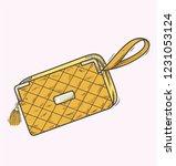 stylish wallet or handbag | Shutterstock .eps vector #1231053124