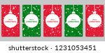 christmas and new year social... | Shutterstock .eps vector #1231053451