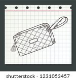 stylish walet or hand bag with... | Shutterstock .eps vector #1231053457