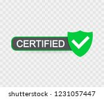 certified stamp vector isolated ... | Shutterstock .eps vector #1231057447