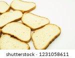 slices of white bread | Shutterstock . vector #1231058611