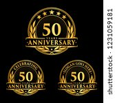 50 years anniversary set. 50th... | Shutterstock .eps vector #1231059181