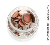 Glass Jar With Coins