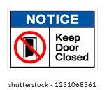 notice keep door closed symbol... | Shutterstock .eps vector #1231068361