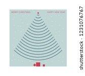 original christmas card...   Shutterstock .eps vector #1231076767