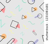 seamless pattern with geometric ... | Shutterstock .eps vector #1231081681