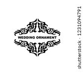 wedding ornament vector...   Shutterstock .eps vector #1231094791