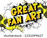 great fan art   vector... | Shutterstock .eps vector #1231099627