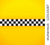yellow checkerboard pattern  ... | Shutterstock .eps vector #123110287