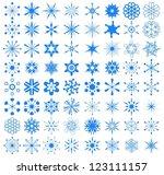 Big Set Of Snowflakes. 64...