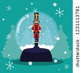 nutcracker soldier in crystal... | Shutterstock .eps vector #1231113781