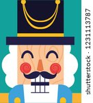 face of nutcracker general toy... | Shutterstock .eps vector #1231113787