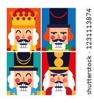 set of nutcracker toy isolated... | Shutterstock .eps vector #1231113874