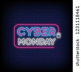 cyber monday concept banner in... | Shutterstock .eps vector #1231118461