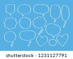 vector bubbles speech set. hand ... | Shutterstock .eps vector #1231127791