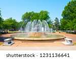 wilson park fountain downtown... | Shutterstock . vector #1231136641