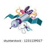 astronaut exploring cosmos ... | Shutterstock .eps vector #1231139017