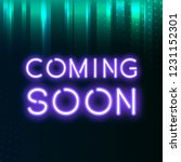 purple coming soon neon icon... | Shutterstock .eps vector #1231152301