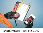 building contract. fix list.... | Shutterstock . vector #1231157647