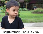 Child Boy Asian Relax In Black...