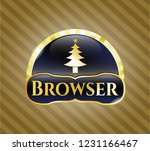 gold emblem with christmas...   Shutterstock .eps vector #1231166467
