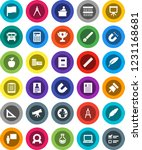 white solid icon set  copybook... | Shutterstock .eps vector #1231168681