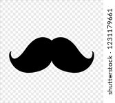 mustache  beard  isolated... | Shutterstock .eps vector #1231179661