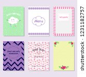 cards with various design for... | Shutterstock .eps vector #1231182757