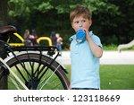 Little Boy With Drinking Bottl...