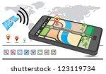 generic gps navigation system...   Shutterstock .eps vector #123119734